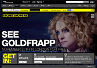 Myspace Secret Shows redesign